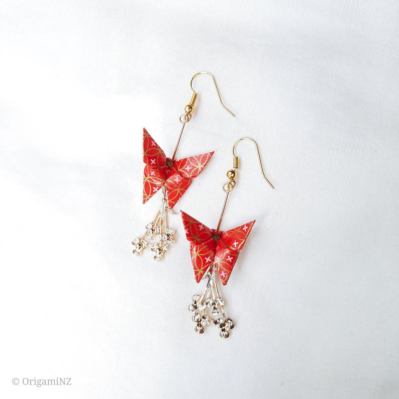 Origami Butterfly Bouquet Earrings   Limited Edition via @chooicenz
