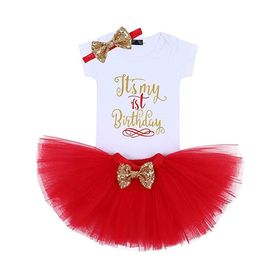 Birthday Baby Girl Tutu Outfit with Sequin Bow Romper. via @chooicenz
