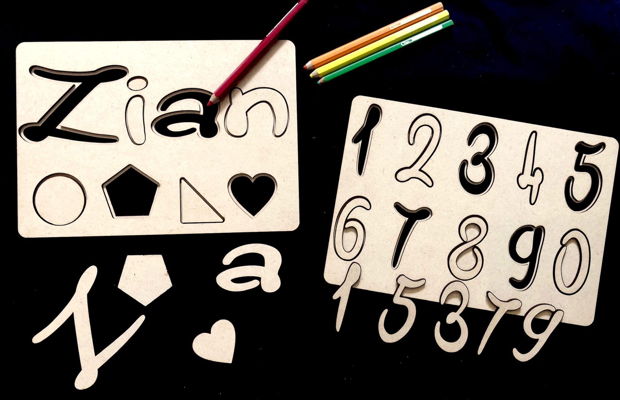 Custom name and number puzzle (unpainted) via @chooicenz