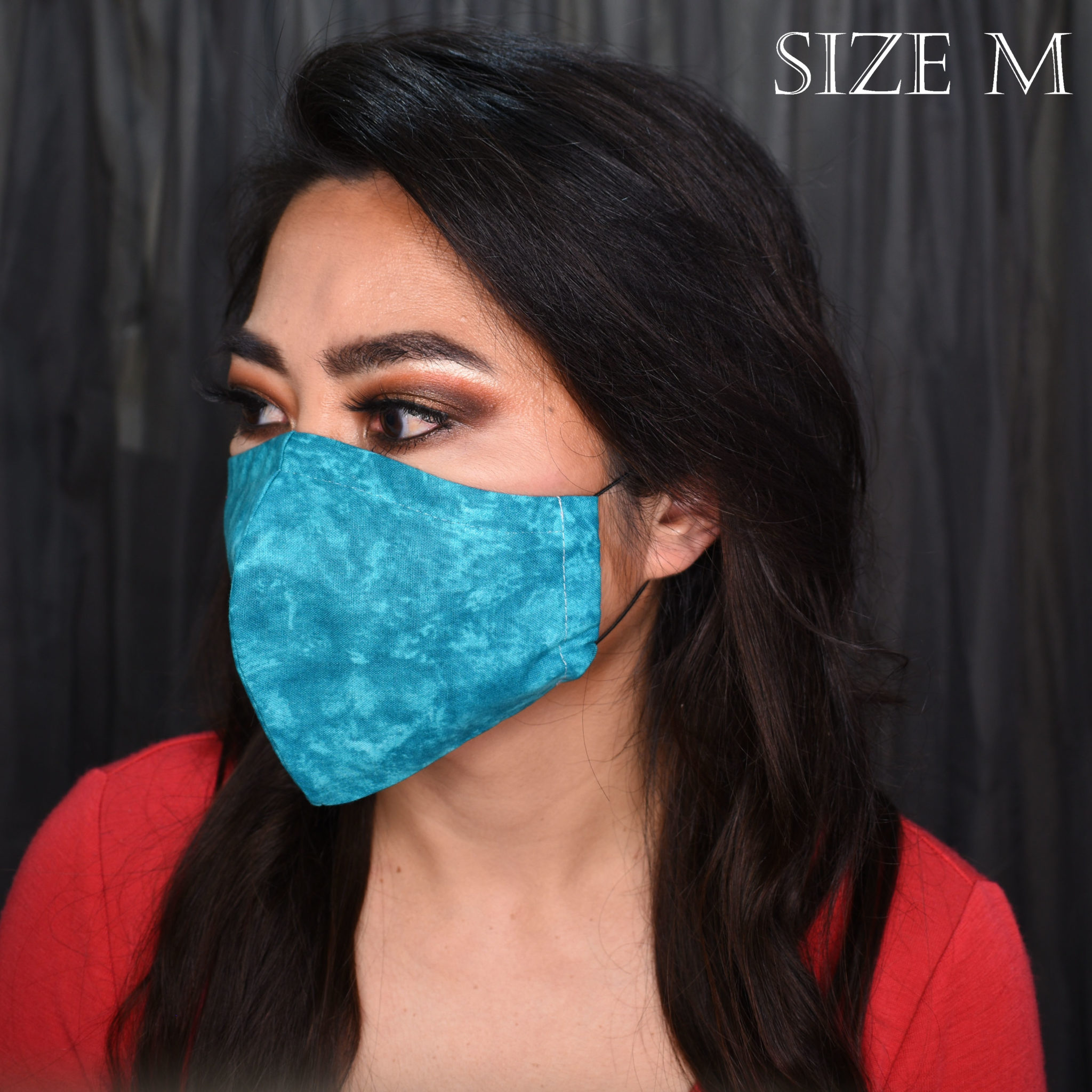 Marble Teal – Small (nose wire, filter pocket + NZ free shipping) via @chooicenz