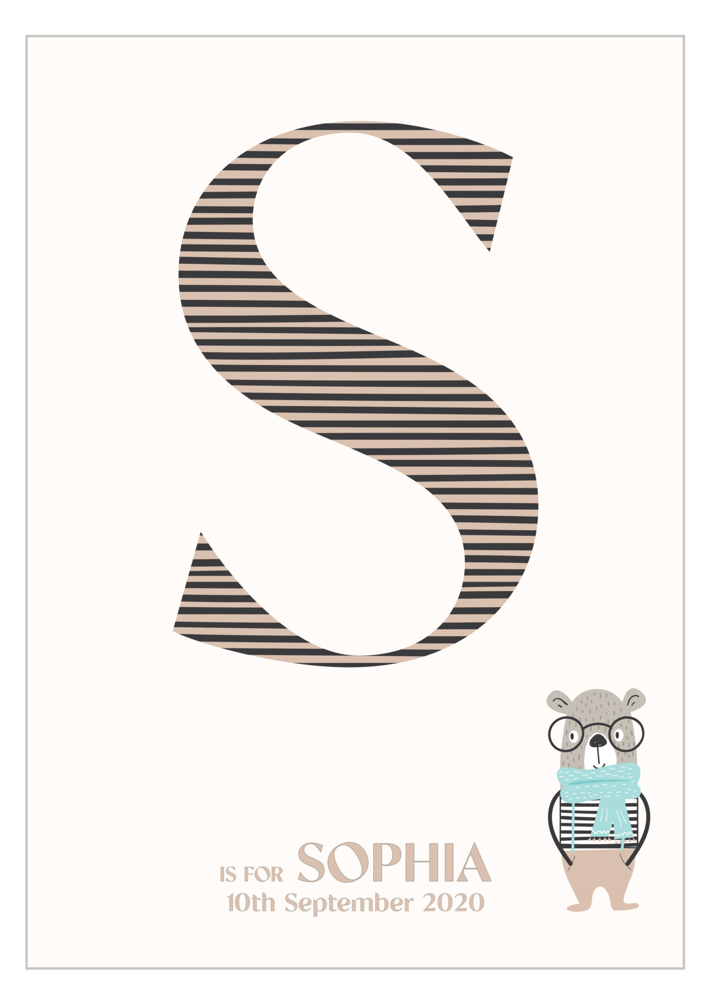 Personalised New Baby Letter print via @chooicenz