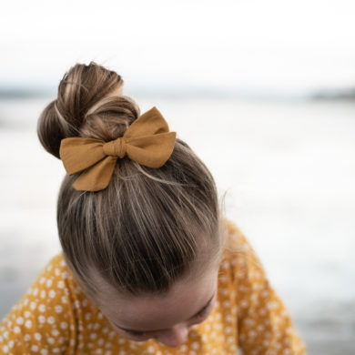 Cherished-Bubs-Tilly-Bow-Large-Clip-Mustard