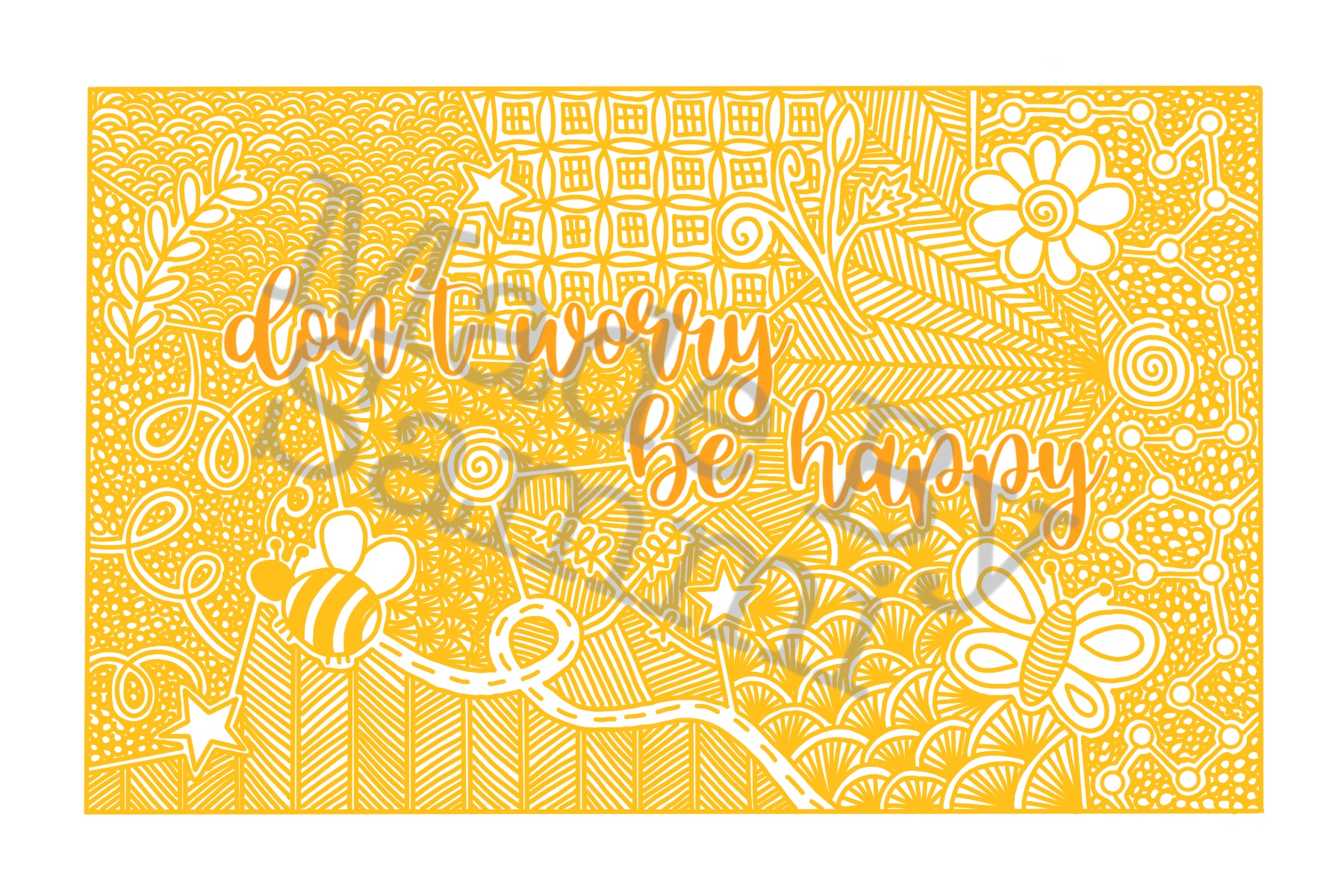 Don't worry be happy- downloadable print via @chooicenz