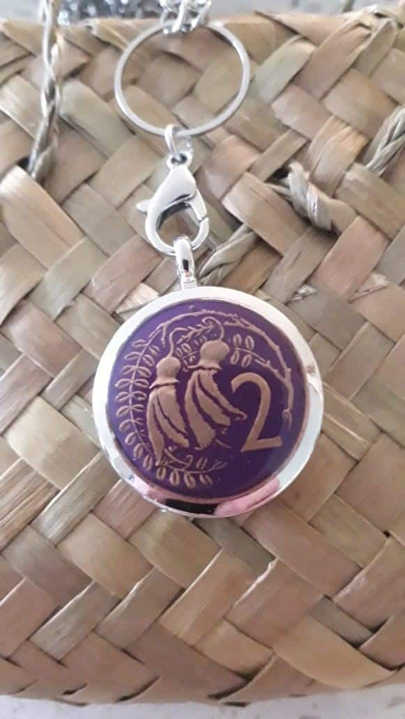 Purple 2 Cent Coin Locket Please click into product to see years available via @chooicenz