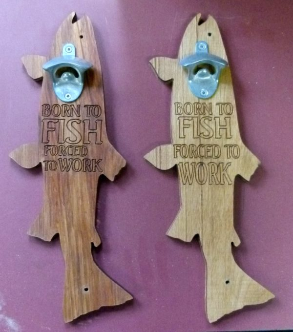 """""""Born To Fish..."""" Wall Mounted Bottle Opener"""