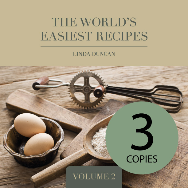 3 Copies of The World's Easiest Recipes – Volume 2 (Free shipping anywhere in New Zealand) via @chooicenz