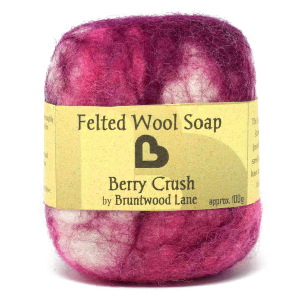 Berry Crush felted wool soap by Bruntwood Lane