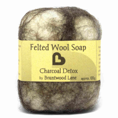 charcoal detox felted soaps by Bruntwood Lane