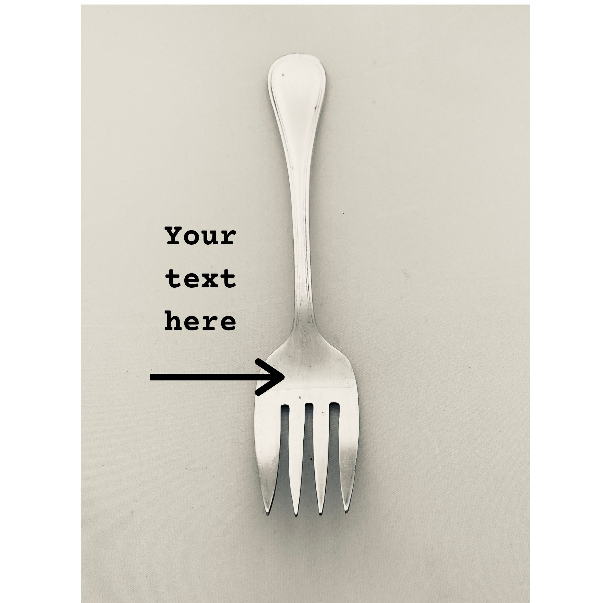 Customise Your Serving Fork – Limited stock via @chooicenz