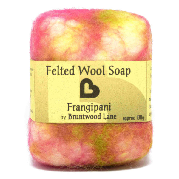 Frangipani Felted Wool Soap by Bruntwood Lane