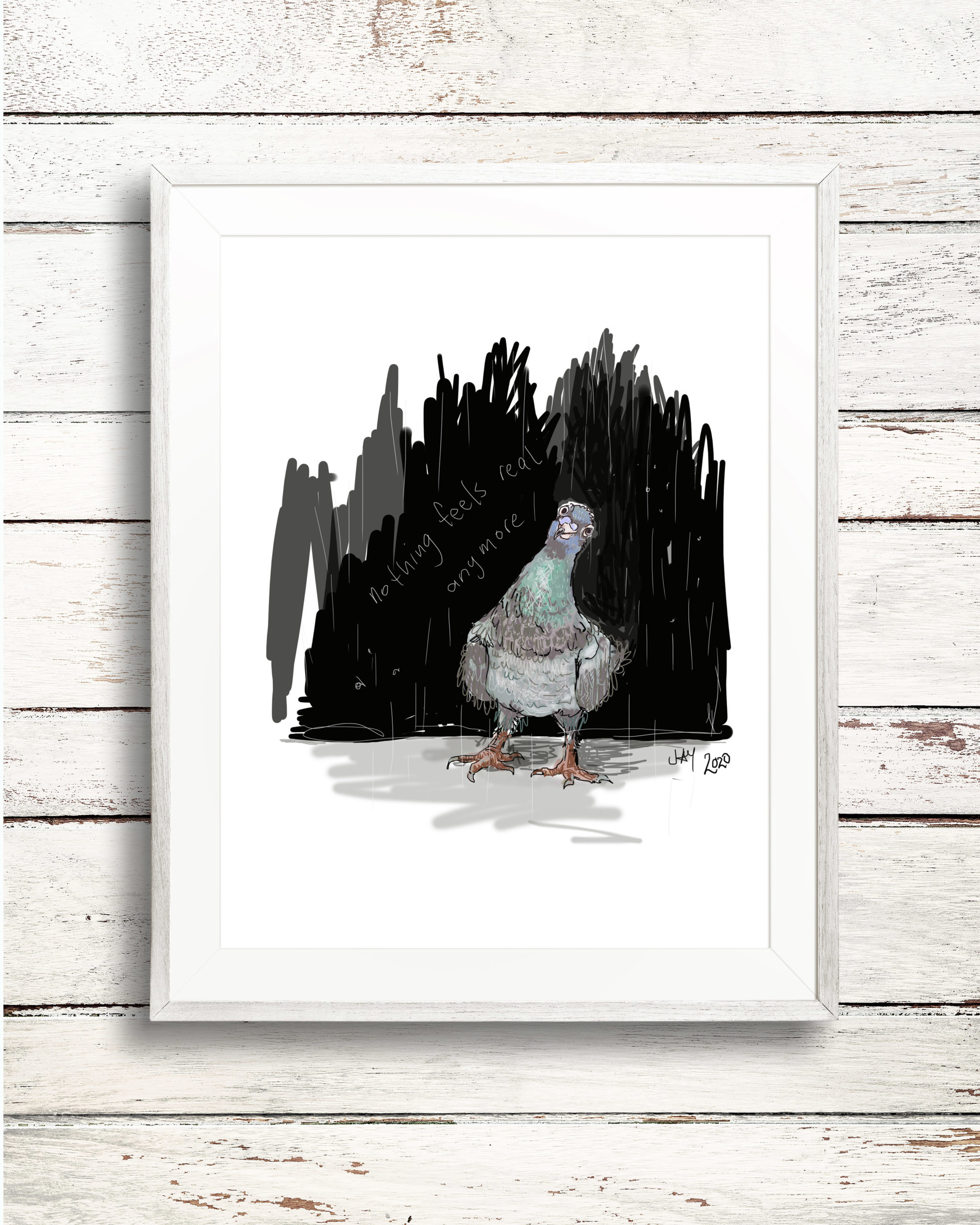 City pigeon in the time of Covid. via @chooicenz