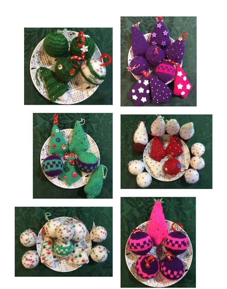 Knitted Christmas Decorations via @chooicenz