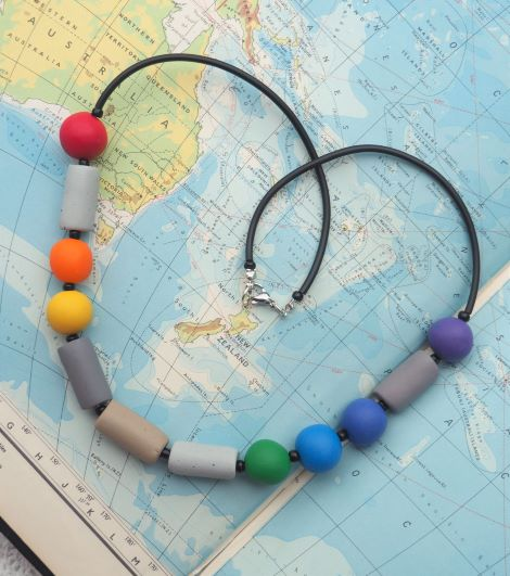 Morse Code Necklace – Message of 'LOVE' via @chooicenz
