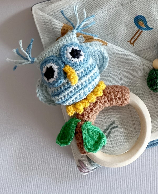 blue owl ring rattle