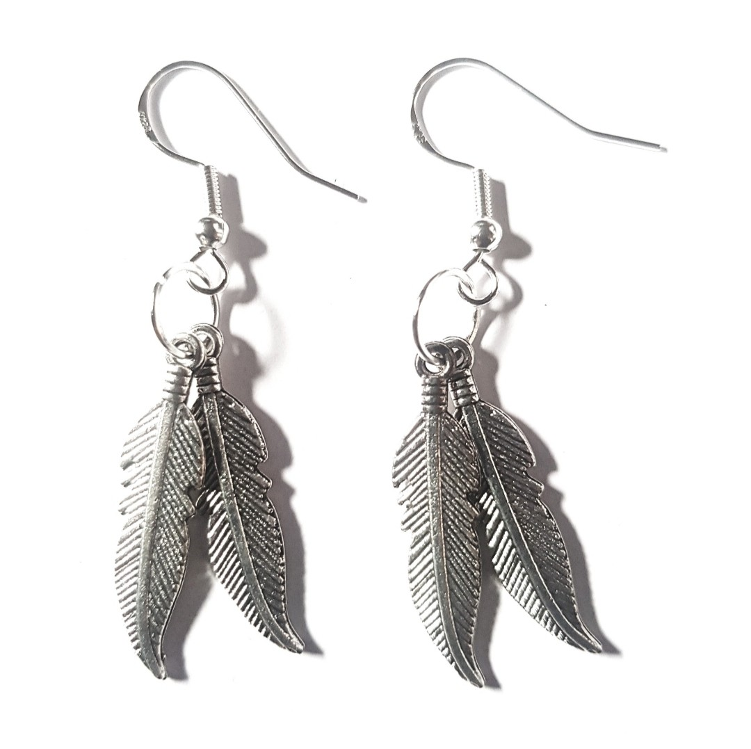 Wild and Free Feather 925 Hook Earrings via @chooicenz