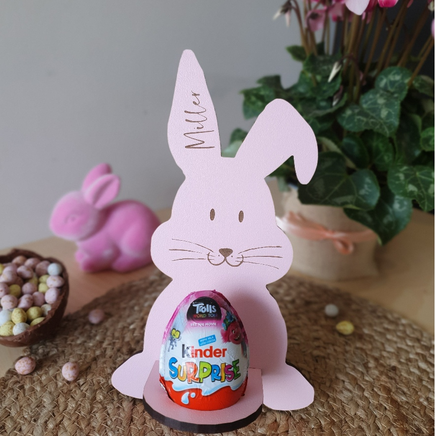 Easter Bunny Personalised Kinder Surprise Holder – Add a name via @chooicenz