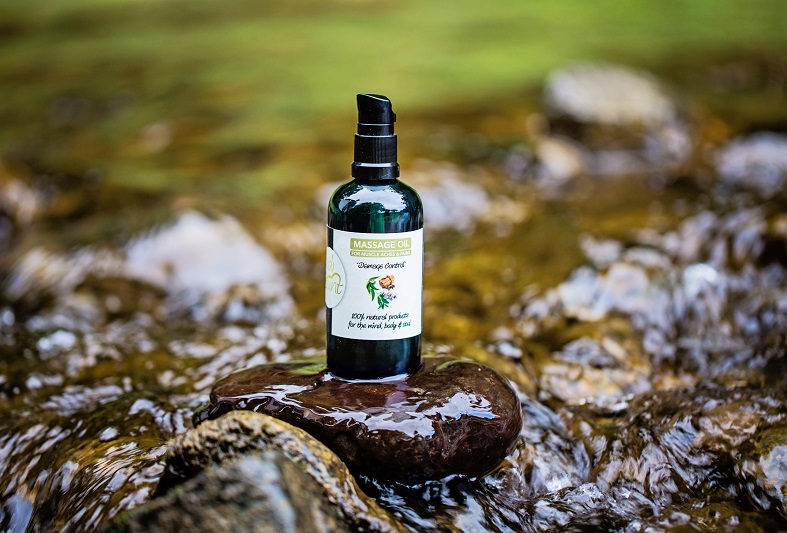 """""""Damage Control"""" – Massage Oil for muscle aches & pains by Nudi Point via @chooicenz"""
