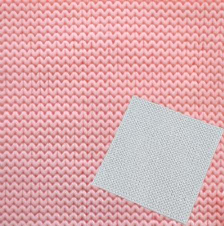 Plain knitted stitch silicon mould via @chooicenz