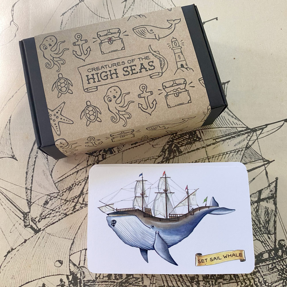 'Creatures of the High Seas' Playing Cards via @chooicenz