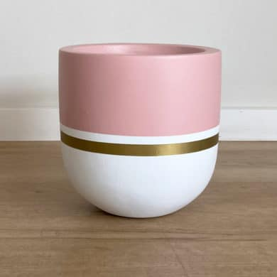 Small Pink and Gold Plant Pots Hand-Painted in New Zealand
