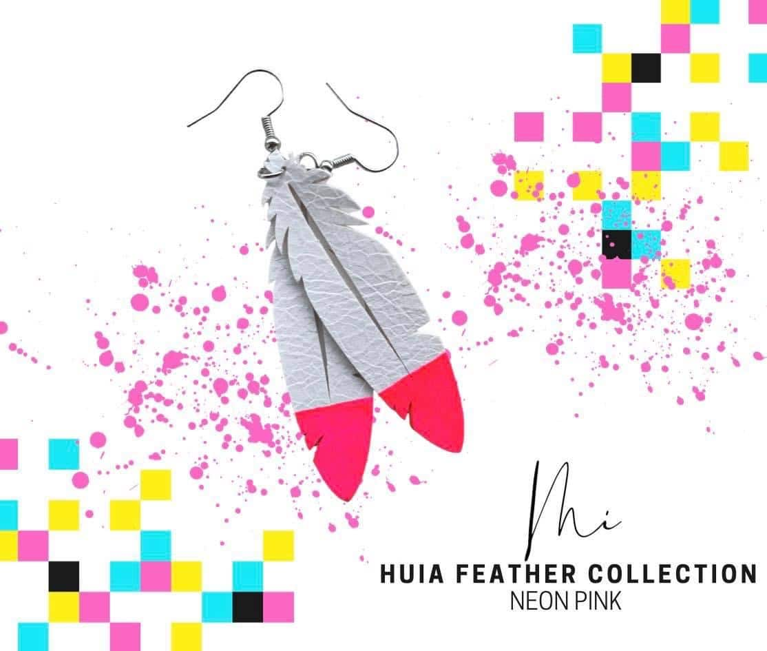 Huia Feather Collection – Neon Pink via @chooicenz