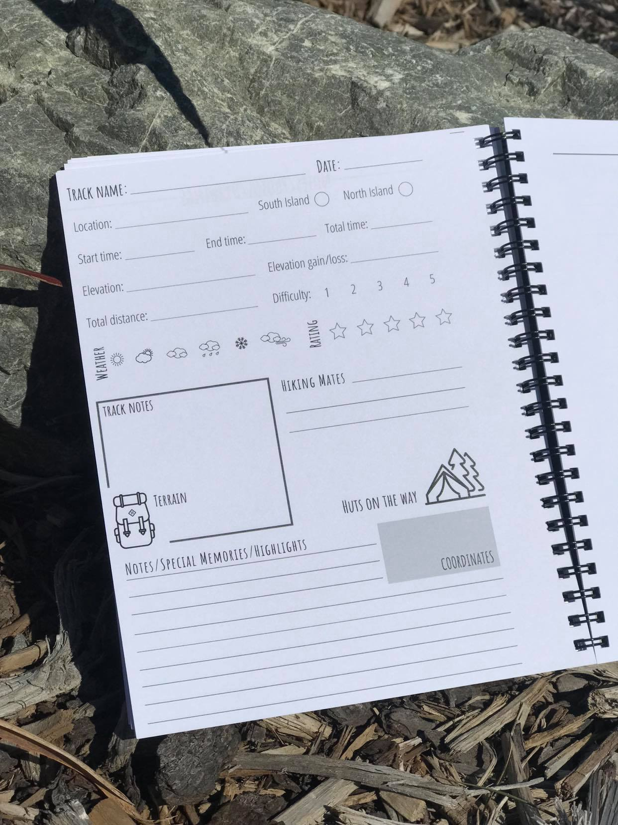Tramping logbook- VERY SLIGHT DEFECT ON PAGES via @chooicenz