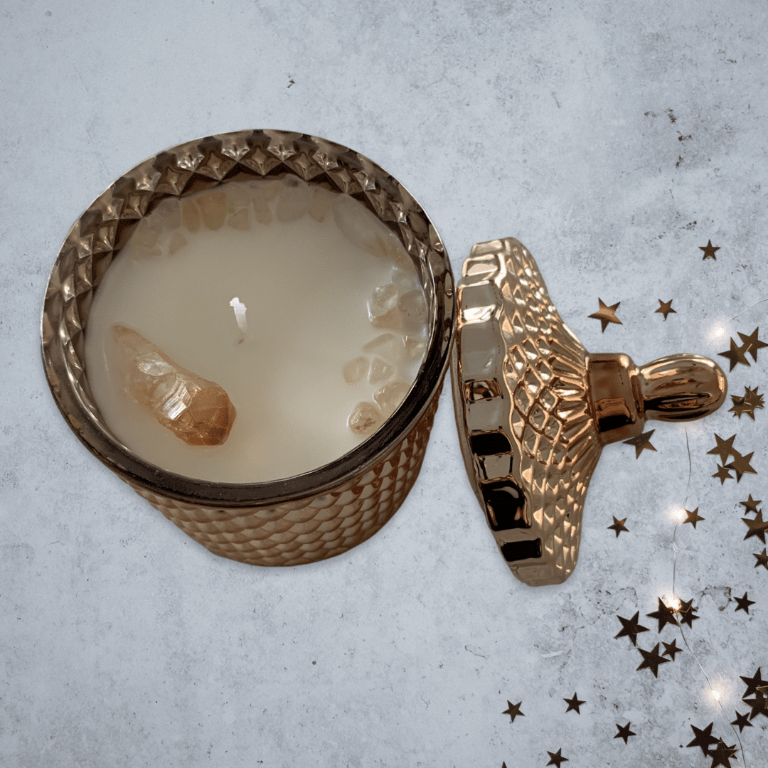 Sunshine In My Soul Mango Scented Crystal Candle via @chooicenz