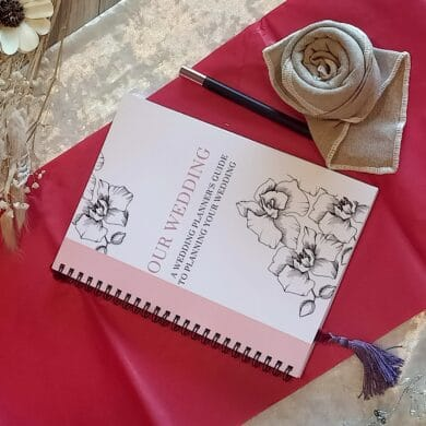 Wedding planner notebook front cover